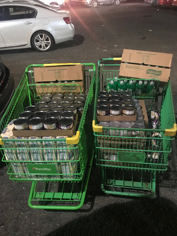 Canned food for victims of the Huracan Maria in Puerto Rico by Around Eco