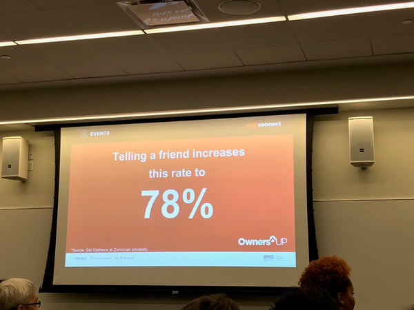telling a friend increase by 78% of doing something We Connect at Microsoft NYC