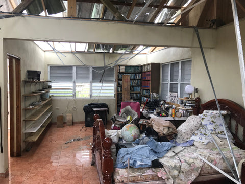 a house destroyed by Huracan Maria in Puerto Rico by Around Eco