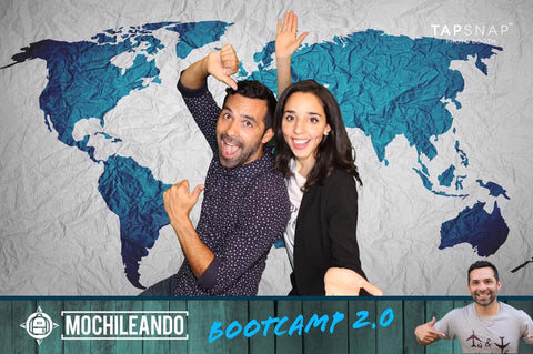 Around Eco and Mochileando founders having fun at the Bootcamp event in Puerto Rico