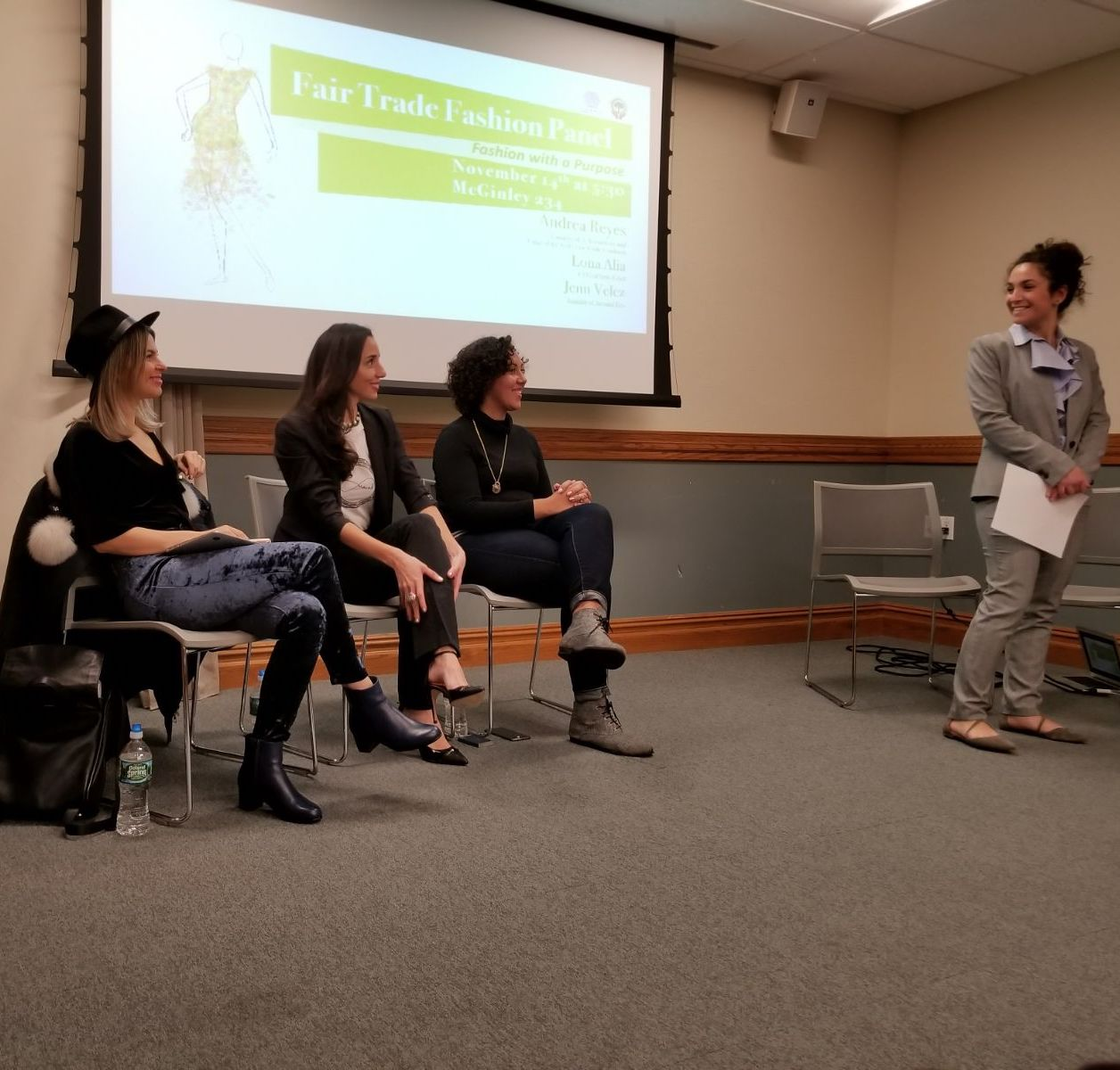 Fair Trade Panel at Fordham University around eco and nyc fair trade coalition