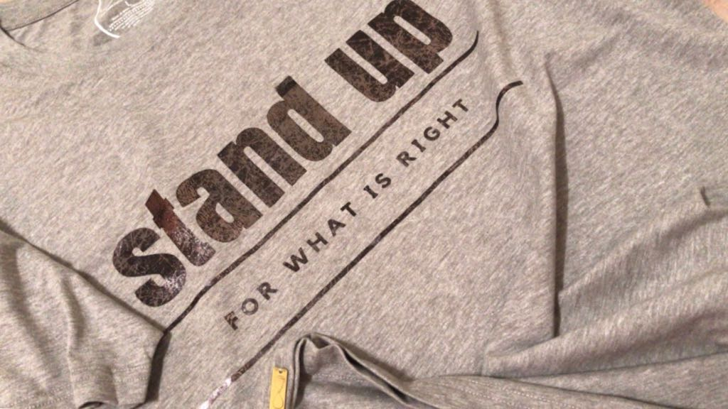 Stand up for What is Right tshirt Around Eco, Personalize tshirt, Custom graphic tee, fair trade clothing, ethical fashion