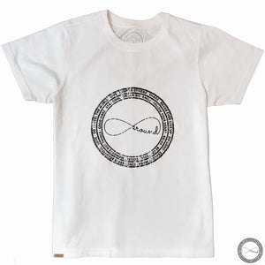 White Around Eco Logo Graphic T-shirt