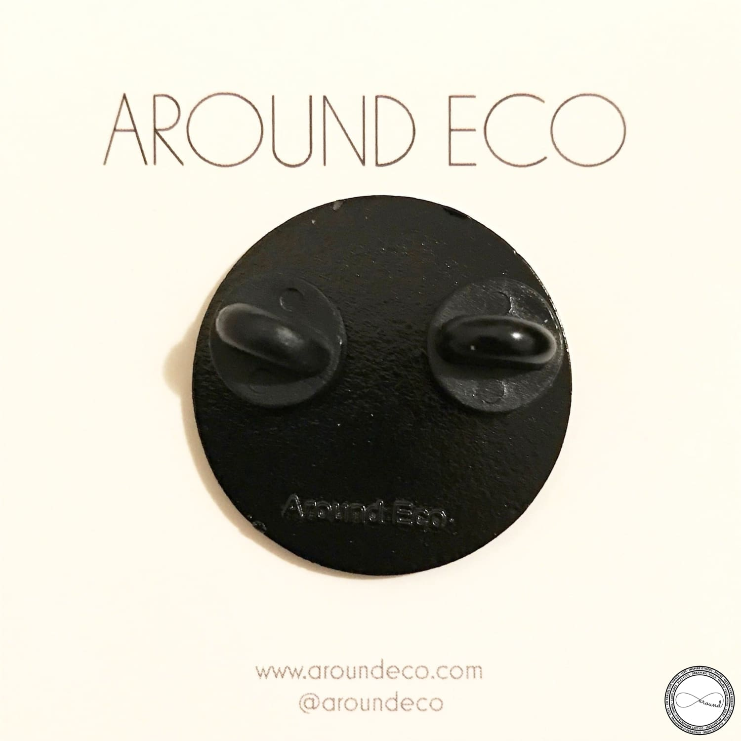 Around Eco Logo Pin - travel accessories