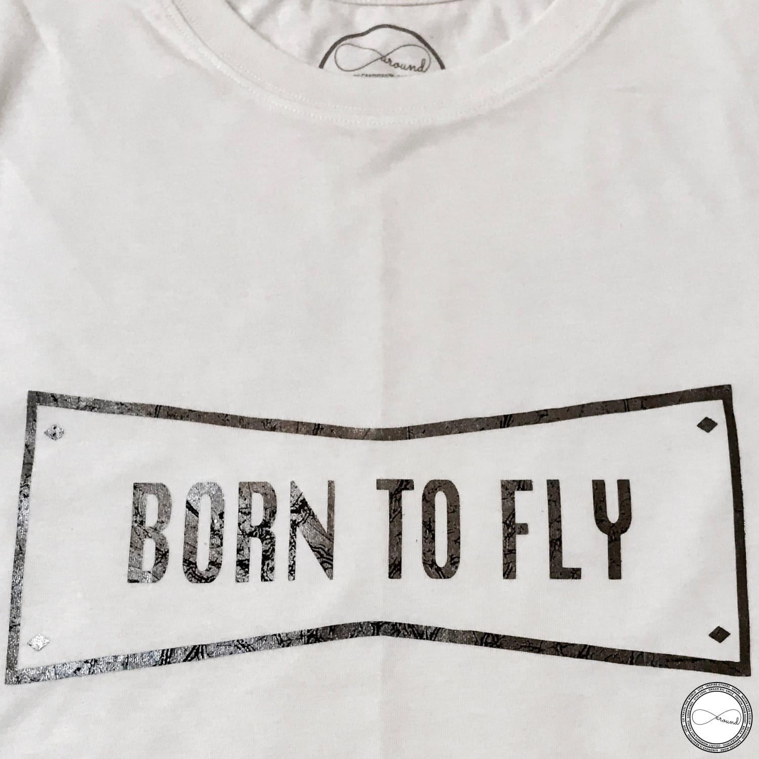 Ecofriendly and Fair Trade Custom Made Born To Fly Graphic T-shirt by Around Eco