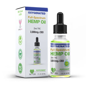 Mr. CBD 3,000mg Full-Spectrum Hemp Oil, Oxygenated & Zero-THC