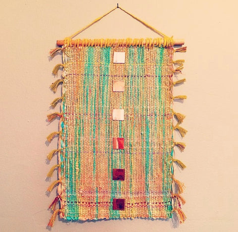 Woven Silk & Copper Wall Hanging