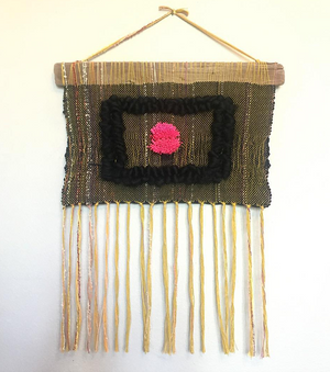 Woven tapestry wall hanging