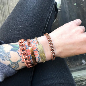 Solid Copper Chain Bracelet