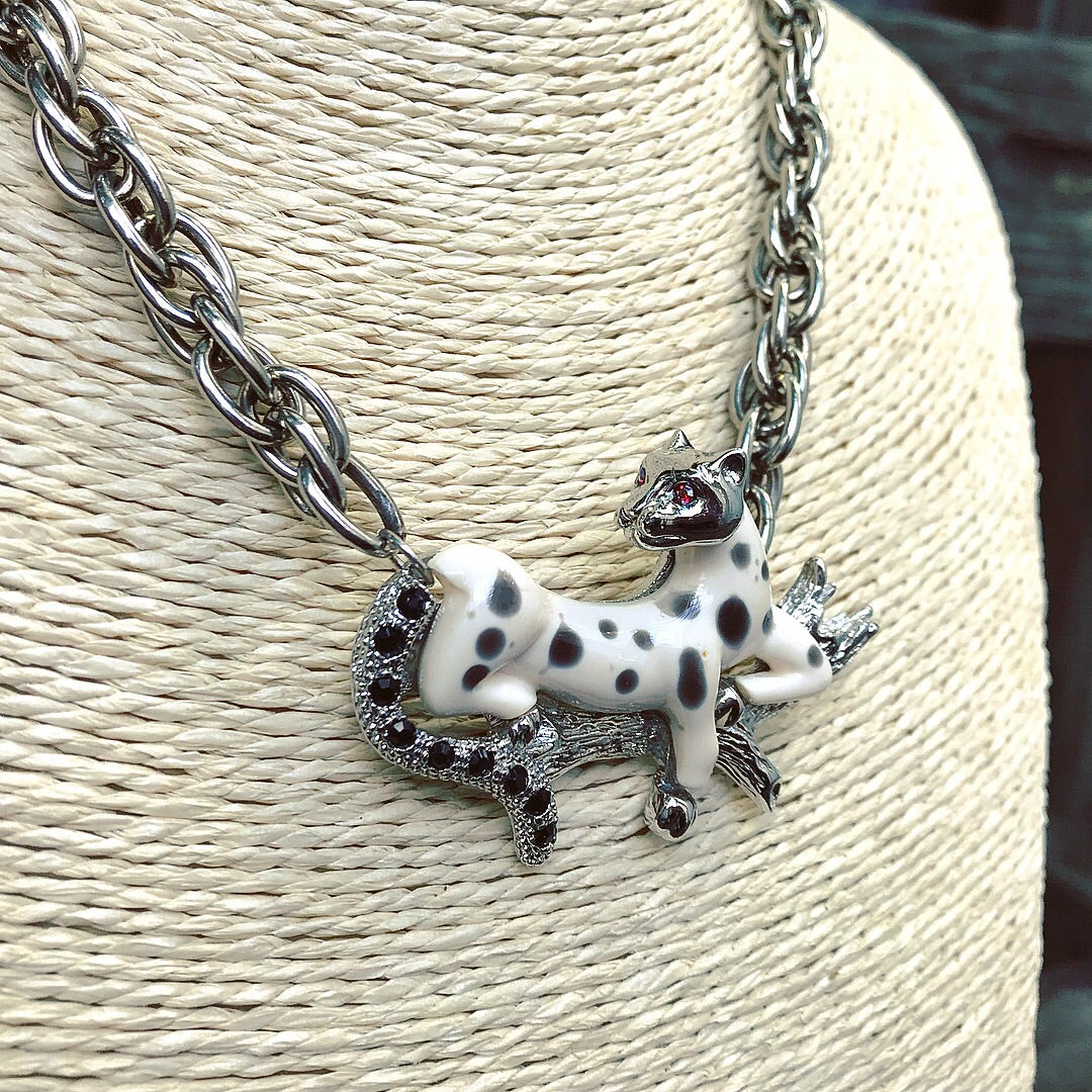 Snow leopard necklace