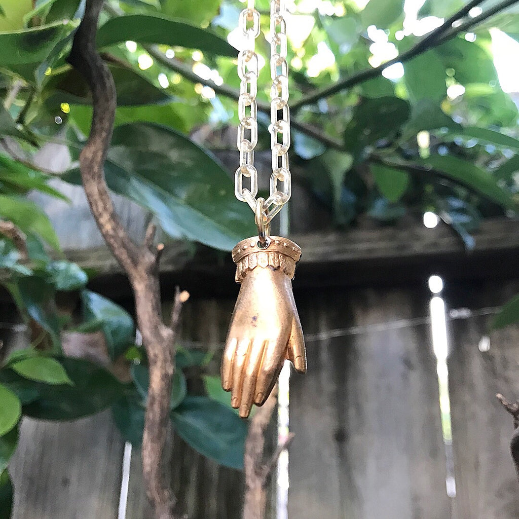 Victorian Hand Necklace