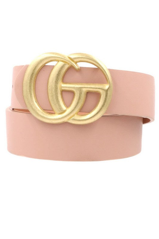 Don't Quit Belt in Blush/Bronze