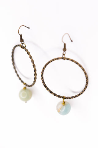 Olivia Earrings in Amazonite