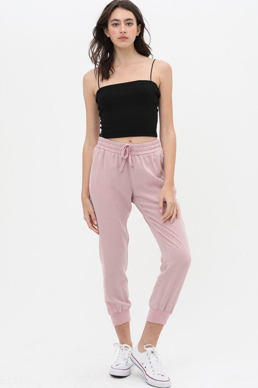 Cloudy Morning Joggers in Mauve