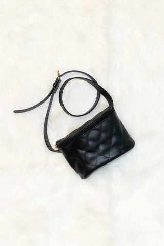 Fancy Fanny Pack in Black Quilted