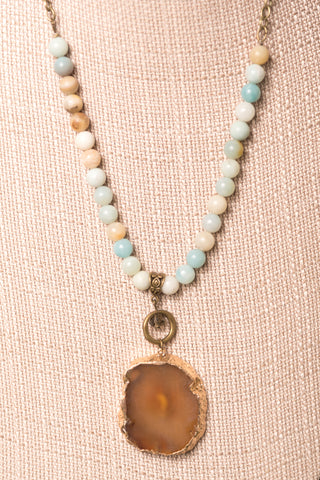 Kennedy Necklace in Amazonite