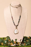 Kennedy Necklace in Dark Jade