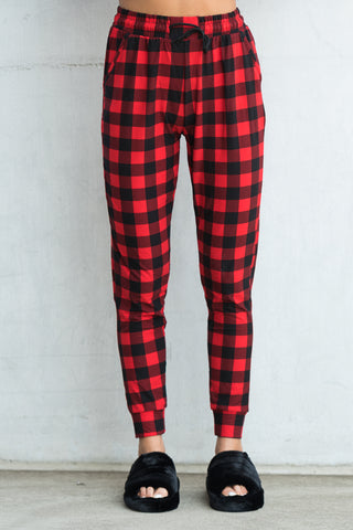 Invisible String Joggers in Gingham