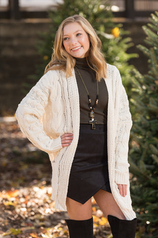 Perfectly Posh Cardigan in Ivory