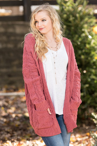 Perfectly Posh Cardigan in Marsala