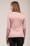 Sparks Fly Top in Pale Mauve