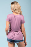Kellie Pocket Tee (V Neck) in Dusty Orchid