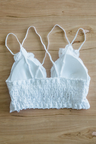 Amazing Lace Bralette in White
