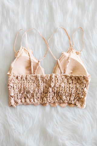 Amazing Lace Bralette in Nude