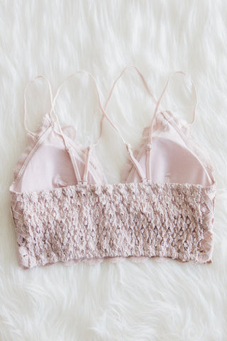 Amazing Lace Bralette in Violet Grey