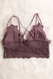 Amazing Lace Bralette in Dusty Purple