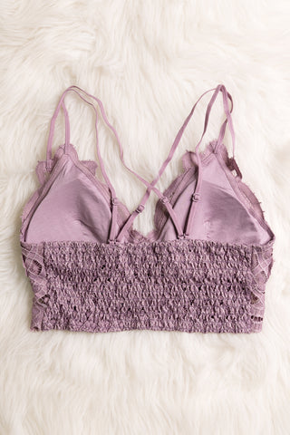 Amazing Lace Bralette in Elderberry