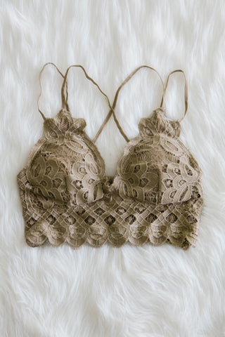 Amazing Lace Bralette in Golden Brown