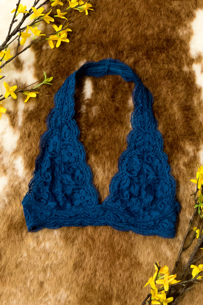 Lovely in Lace Bralette in Navy