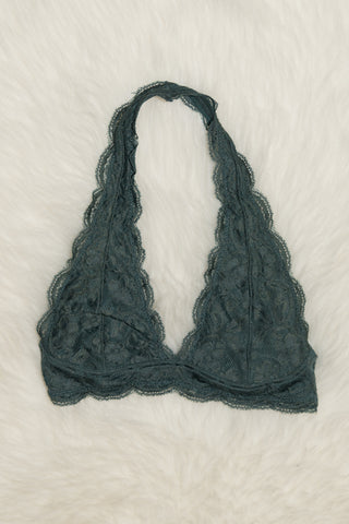 Lovely in Lace Bralette in Balsam Green