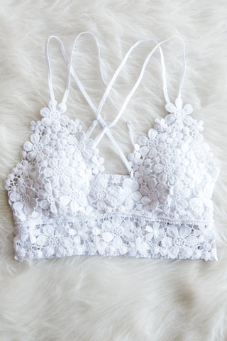 Daisy Dreams Bralette in White
