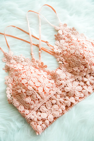 Daisy Dreams Bralette in Coral Pink