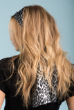 Free to Be Me Scarf in Grey Leopard