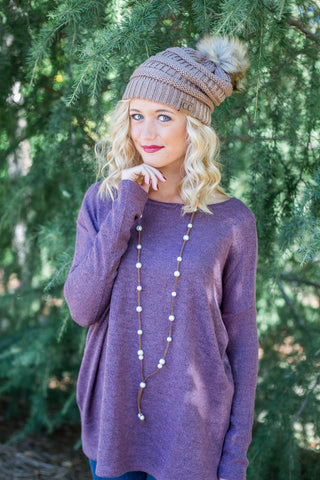 Piko Plush in Dusty Purple