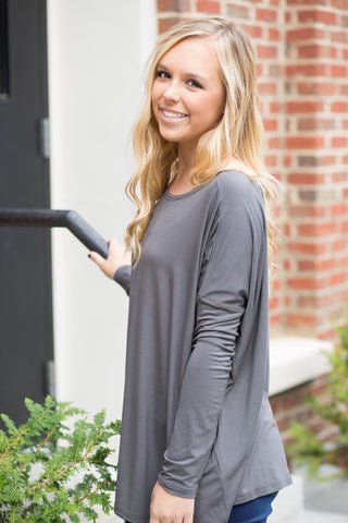 Piko Perfect Top in Dark Grey