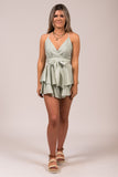 Girly Girl Romper in Mint