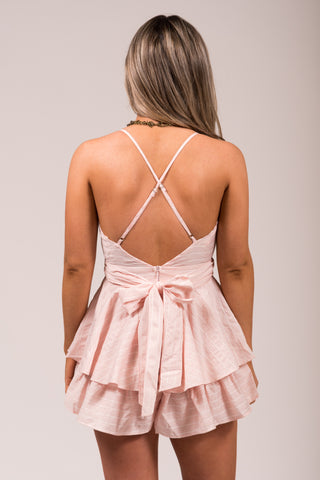 Girly Girl Romper in Light Pink