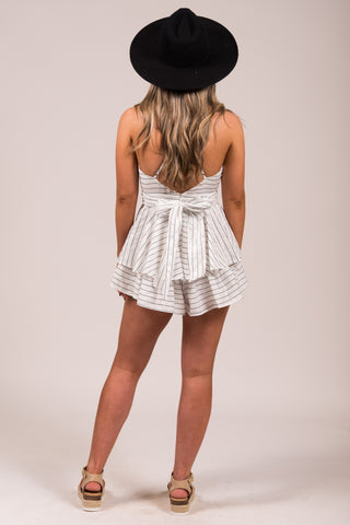Girly Girl Romper in White