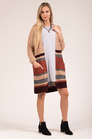 Sunset Fields Cardigans in Beige
