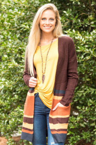 Sunset Fields Cardigans in Wine