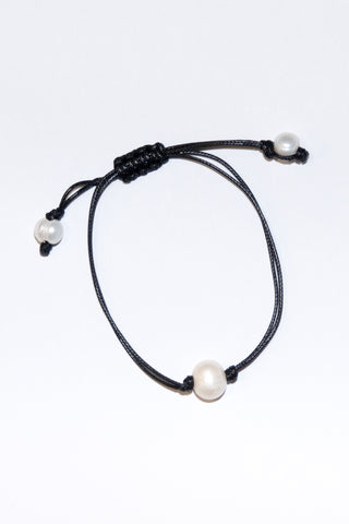 Good Vibes Anklet in Single Pearl