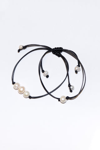 Good Vibes Bracelet in Single Pearl