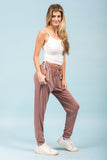 Invisible String Joggers in Mauve