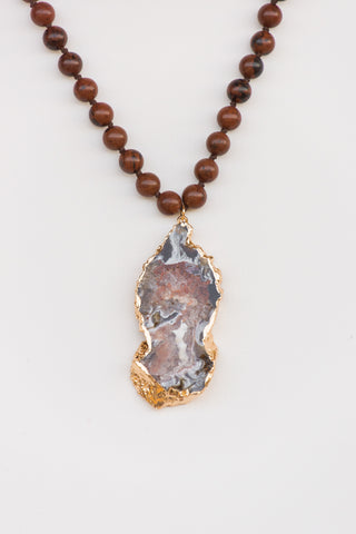 Katherine Necklace in Red Marble