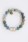 Anna Grace Bracelet in Jade Mix