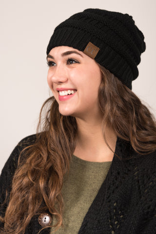 All Winter Long Beanie in Black